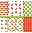 Bright set of seamless patterns with watermelons - vector image vector image