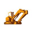 bulldozer front retro vector image vector image