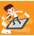 businessman surf by phone vector image