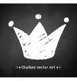 Chalked crown vector image