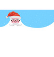 christmas background happy santa with a beard vector image vector image