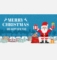 christmas card with greeting vector image vector image