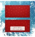 christmas envelope with snowflakes to santa klaus vector image