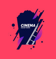 colorful poster cinema in vector image vector image