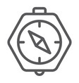 compass line icon geography and direction vector image vector image