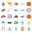 cool game icons set cartoon style vector image vector image