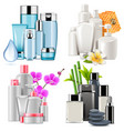 cosmetic products vector image vector image