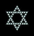 Diamond Star Of David vector image vector image