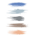 earth tone watercolor brush strokes isolated vector image