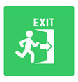 emergency exit sign with man silhouette vector image