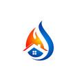 fire house water drop logo vector image vector image