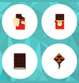 flat icon bitter set of chocolate bar delicious vector image vector image