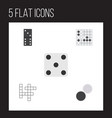 flat icon play set of bones game gomoku chequer vector image vector image