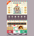 flat style pizzeria cafe design web site design vector image vector image