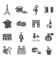 France Icons Black vector image