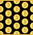 golden coins with bitcoin sign seamless pattern vector image vector image