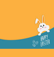 happy easter with easter bunny vector image vector image