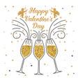 happy valentines day stamp badge sticker vector image vector image