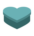 heart shape box vector image vector image