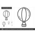 hot air balloon line icon vector image vector image