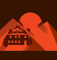 house in the mountains is flat style mountain vector image vector image
