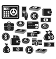 Icons money vector image
