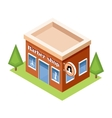 Isometric barber shop on a white background vector image vector image