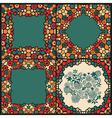 kaleidoscopic frames vector image vector image