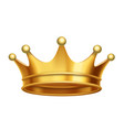 king crown gold vector image vector image