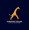 logo giraffe jump gradient colorful style vector image vector image