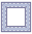 ornate frame in ethnic style tribal beads hand vector image vector image
