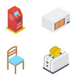 pack isometric appliances icons vector image