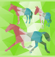 polygonal horse collection vector image