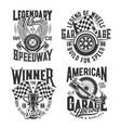 racing sport motocross speedway t-shirt prints vector image vector image