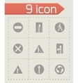 road element icon set vector image