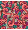 seamless hand drawn abstract swirl floral vector image vector image