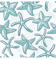 seamless pattern starfish sea star vector image