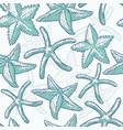 seamless pattern starfish sea star vector image vector image