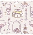 Seamless pattern with doodle candy bar objects vector image vector image
