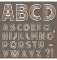 silver swirly alphabet vector image