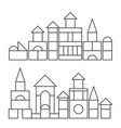 simple line style blocks toy towers for coloring vector image