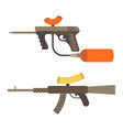 sniper weapon flat paintball or airsoft vector image