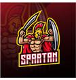 spartan sport mascot logo design vector image