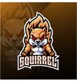 squirrel esport mascot logo design vector image vector image