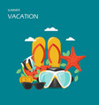 summer vacation flat style design vector image vector image