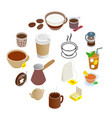 tea and coffee icons set vector image vector image
