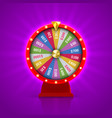 wheel fortune roulette gambling lottery vector image