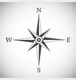 wind rose compass vintage on white background vector image