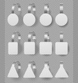 wobblers mockup set blank white 3d price tags vector image