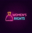 women rights neon sign vector image
